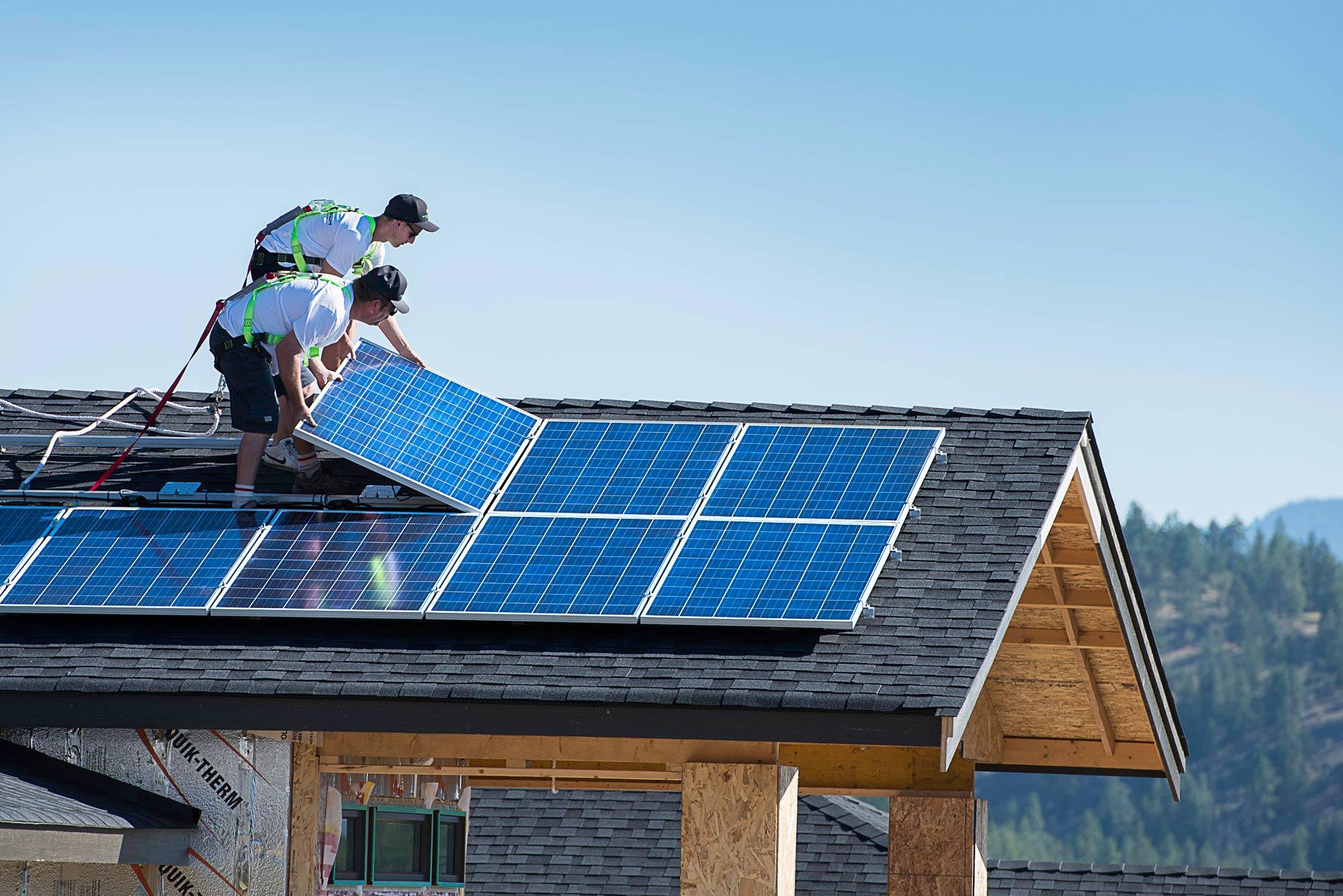 Solar panel installation image